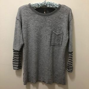 Anthropologie Pete Sweater w/striped sleeves. Sz S